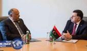 وزير الخارجية المصري يبحث مع السراج مستجدات الأزمة الليبية