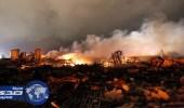 اندلاع حريق كبير في مصنع كيميائي في تكساس