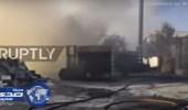 بالفيديو.. حريق يحتجز 34 ألف شخصا