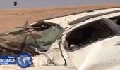 بالفيديو.. حادث مروع لأسرة على طريق الرين لعدم وجود علامات إرشادية