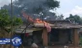 """إرهابيون هندوس يحرقون 3 منازل لمسلم لذبح أُضحيته من """" البقر """""""