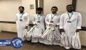 بالصور.. مستشفيات صحة جدة تشارك المرضى والمراجعين الاحتفاء باليوم الوطني