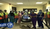 تنفيذ فرضية حريق بمستشفى دار الشفاء بالرياض
