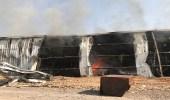 بالصور.. إخماد حريق مستودع تخزين أدوات كهربائية بالمدينة وشبهة جنائية في الحادث