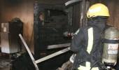 بالصور.. الدفاع المدني يخمد حريقاً بشقة في المخواة