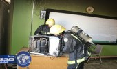 بالصور.. إصابة طالبات في حريق مدرسة بمكة