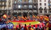 مسيرة لمئات الآلاف ببرشلونة احتجاجًا على انفصال كتالونيا