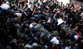 الفلسطينيون يشيعون شهداء نفق غزة