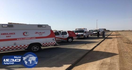 تصادم 19 سيارة في حادث مروع على طريق الملك فهد