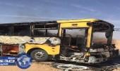 ماس كهربائي وراء حريق حافلة الطالبات بعفيف