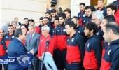 الرئيس السيسي يستقبل المنتخب المصري في قصر الاتحادية