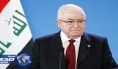 رئيس العراق يؤكد سعيه للتهدئة بين بغداد وأربيل