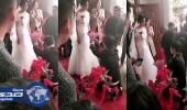 بالفيديو.. عروس تتراجع عن الزواج في حفل زفافها