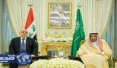بالصور.. خادم الحرمين يعقد جلسة مباحثات مع رئيس وزراء العراق