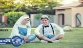بالصور.. عروسان يكسران روتين حفل الزفاف بالشورت وجمبسون جينز