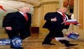 """بالفيديو والصور.. أمريكي يهاجم ترامب داخل الكونجرس بأعلام روسية ويصفه بــ """" الخائن """""""