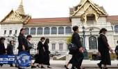 التلفزيون التايلاندي بالأسود في ذكرى حرق جثمان الملك بوميبول