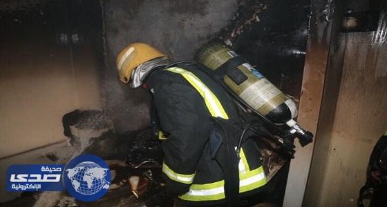 اختناق فتاتين في حريق عمارة بمكة