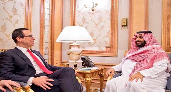 """وزير الخزانة الأمريكي يوجِّه رسالة للأمير محمد بن سلمان عبر """" تويتر """""""