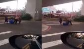 بالفيديو.. سيدة تنقذ زوجها من هجوم مسلح