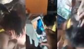 بالفيديو.. أسرة تعاقب فتاة بطريقة قاسية