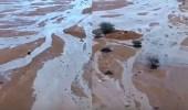 """"""" الكاميرا الطائرة """" توثق لوحات فنية طبيعية لأمطار وأودية شرقي شقراء"""