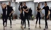 بالفيديو.. فتاة حسناء تثير ضجة عبر مواقع التواصل برقصة مثيرة