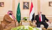 ولي العهد يبحث مع الرئيس اليمني أخر المستجدات