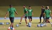 الأخضر يختتم تدريباته لمواجهة بلغاريا