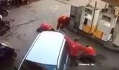 فيديو| لحظات الرعب والخطر أثناء محاولة تفجير محطة وقود من مجهولين