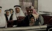صورة نادرة للأميرة الراحلة مضاوي في حضن الملك المؤسس