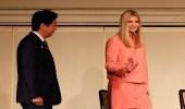 بالصور.. إيفانكا ترامب تلتقي رئيس الوزراء الياباني