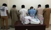 بالصور.. شرطة مكة تطيح بمروجي مسكرات ومخدرات