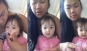 بالفيديو.. حيلة أم لعلاج انسداد أنف طفلتها تثير حيرة الأطباء