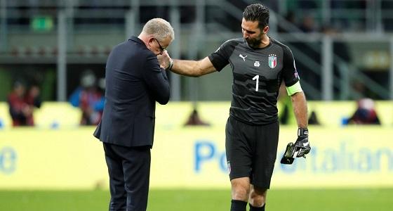 بالفيديو.. هكذا رد بوفون على هجوم جماهير إيطاليا ضد السويد