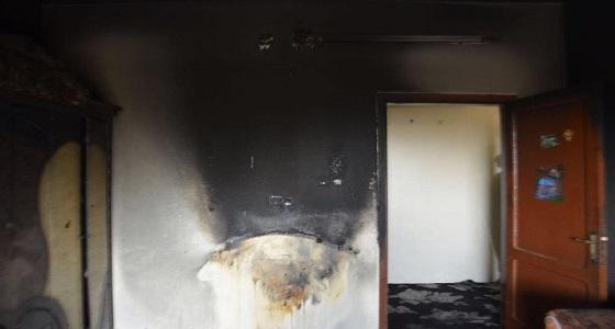 مدني سكاكا يسيطر على حريق شقة بحي الشلهوب