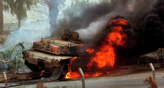 المقاومة في البيضاء اليمنية تفجر دبابة للميليشيا الانقلابية