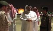 بالصور.. نائب أمير الرياض يقف على شظايا الصاروخ الباليستي بشرق المطار