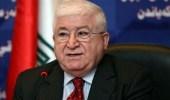 رئيس العراق يتضامن مع فلسطين.. ويؤكد حقها في إقامة دولة مستقلة