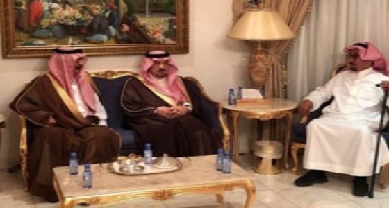 أمير الرياض يعزي أسرة آل الشيخ في وفاة عبد الرحمن بن حسن