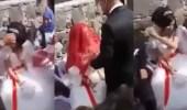 بالفيديو.. شاب يصفع عروسه في حفل زفافهما ورد فعل صادم للمعازيم