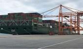 استقبال أضخم سفينة حاويات في تاريخ ميناء الجبيل التجاري
