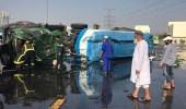 """إصابة 18 شخصا في حادث تصادم بـ """" عرفة خط """""""