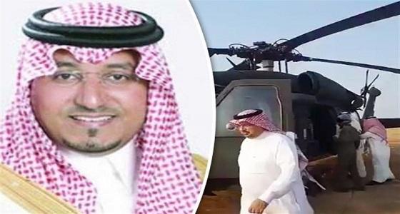 تفاصيل انتشال شهداء مروحية الأمير منصور بن مقرن