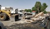 بالصور.. بلدية البطحاء تشن حملة لإزالة الملوثات والمخلفات داخل الأحياء