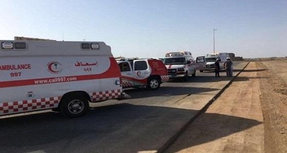 إصابة 5 في حادث انقلاب مركبة بمكة
