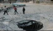 النظام السوري يقصف مستودع مساعدات غذائية في دوما