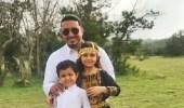 بالصور.. نائب أمير عسير منصور بن مقرن مع أبنائه