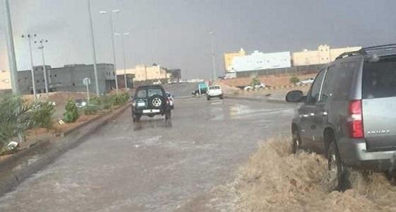 هطول أمطار غزيرة على الجوف وضواحيها