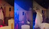 بالفيديو.. سقوط مروع لعروس أثناء رقصها في حفل زفافها